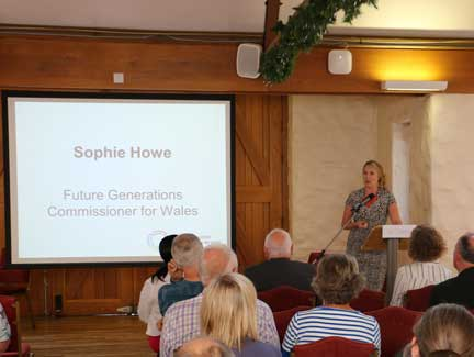 Sophie Howe presenting at the 2019 PSB Annual Conference